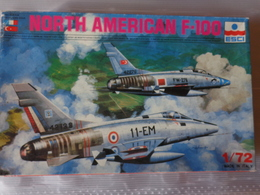 Maquette Avion Militaire-en Plastique-1/72 Esci North American F 100  Ref  9042 - Airplanes