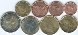 Cyprus - 2008 - 1, 2, 5, 10, 20 & 50 Cents; 1 & 2 Euro (KMs 78-85) UNC - Chipre