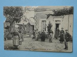 VAUCHRETIEN  (Maine & Loire) -- Vendanges 1906 - Maison Fournier - Départ Pour La Vigne - Vines