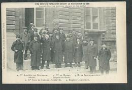Cinq Accusés Royalistes Devant La Haute Cour De Justice De Paris 1899 Avec Le Comte De Ramel Député Du Gard - Personnages