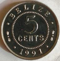 5 Cents Elizabeth II 1991 TTB - Belize