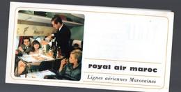 (aviation) (Maroc) Dépliant ROYAL AIR MAROC (tarif Des Biens Vendus à Bord: Cigarettes, Parfum Etc) (PPP22458) - Publicités
