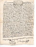 GARDANNE  ( 13 ) - Acte De 1698 Cachet De Provence De 1 Sol Et 4 Deniers - Autres Communes