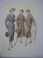 Affiche Poster - Vintage Mode Kleding Vrouwen - Bijlage Heer En Mode - Doetinchem +- 1955 - Habits & Linge D'époque