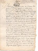 GARDANNE  ( 13 ) - Acte De 1689 - Timbri Generalità