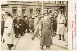 DC639 - REPRO WW2 Warschau Warsaw Ghetto Police On Duty - Weltkrieg 1939-45