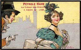 3 Postcards REKLAME Hair Care C1900 PETROLE Hahn Illustrateur E. Bottaro Litho ART NOUVEAU - F. Vibert Lyon - Bottaro