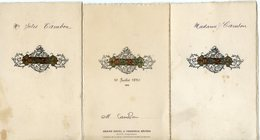 858D....CAPDENAC GARE (Aveyron). GRAND HÔTEL ET TERMINUS REUNIS. (3 MENUS DE Mr ET Mme CAMBON) - Menus