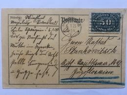 GERMANY - 1923 Inflation Postkarte Magdeburg Postmark - 50 M Rate - Deutschland