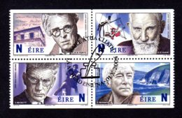 IRLANDE 2004 - Yvert 1614a/1617a - Oblitérés - Personnalités, Prix Nobel De Littérature Irlandais - Usati