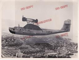 Au Plus Rapide Grand Format Tirage Années 50 D'après Original Hydravion Ville D'Oran Liore Et Olivier - Aviation