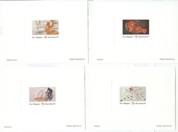 SPAIN Official Proofs Of The Set With Cycling, Boxing, Equestrian And Handball - Summer 1992: Barcelona