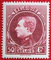 50Fr Koning Albert I Montenez Perf. 14:14½ MECHELEN PRINT 1929 OBP 291 (Mi 264 II) POSTFRIS/ MNHBELGIE BELGIUM - Belgium