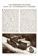 "LA REMORQUE "" KAP ""   1921 - Transportation"