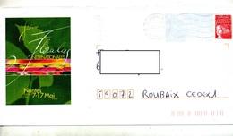 Pap Luquet Flamme Muette Nantes Illustré Floralie - Entiers Postaux