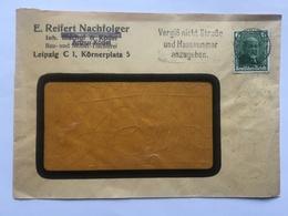 GERMANY - 1936 Cover With `Vergiss Nicht Strasse Und Hausnummer Anzugeben` Slogan Postmark Tied With Daimler 6pf - Allemagne