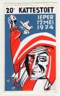 AUTOCOLLANT . STICKER . BELGIE . 20° KATTESTOET  IEPER  12  MEI  1974 - Stickers
