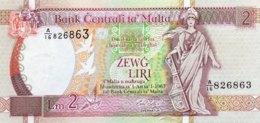 Malta 2 Liri, P-45c (1994) - UNC - Rare Emil Ellul Signature! - Malte