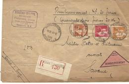 Autoplan / Horoplan PHALSBOURG / MOSELLE Sur Lettre Recommandée Contre Remboursement - Type 239 - 12.3.1936 - Marcophilie (Lettres)