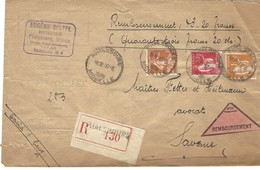 Autoplan / Horoplan PHALSBOURG / MOSELLE Sur Lettre Recommandée Contre Remboursement - Type 239 - 12.3.1936 - Postmark Collection (Covers)