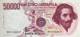 Italy 50.000 Lire, P-113a (6.2.1984) - UNC - [ 2] 1946-… : Repubblica