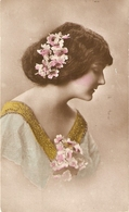 """""""Pretty, Sweet Lady, With Flowers"""" Nice Vintage English Postcard - Women"""