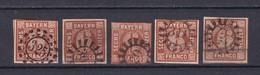 Bayern - 1850 - Michel Nr. 4 II - Gest. - 50 Euro - Bayern
