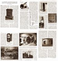 LA CHALEUR ACCUMULEE POUR LE CHAUFFAGE DOMESTIQUE  1921 - Ciencia & Tecnología