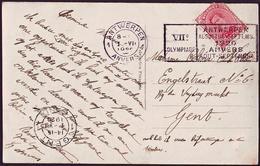 Belgium - 1920 B - Olympic Games 1920 - Postcard  (Antwerpen 1) - Sommer 1920: Antwerpen