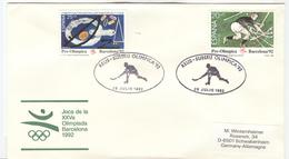 SPAIN Olympic Cover With Olympic Stamps With Olympic Handcancel Reus Roller Hockey - Summer 1992: Barcelona