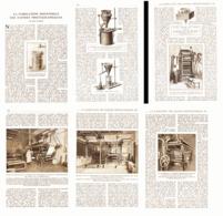 L'INDUSTRIE Du PAPIER PEINT ( Isidore LEROY à PONTHIERRY Et GRUIN à PARIS  )  1921 - Technical