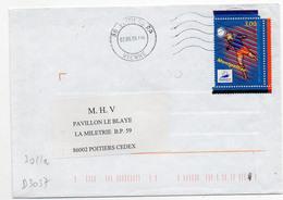 France N° 3011 Issu Du Bloc Y. Et T.  Vienne Poitiers RP Flamme Muette Du 02/06/1999 - Marcofilia (sobres)