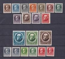 Bayern - 1916/1920 - Michel Nr. 94/115 A - Gest./Postfrisch/Ungebr. - Bayern