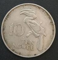 ZAMBIE - ZAMBIA - 10 - TEN NGWEE 1968 - KM 12 - Calao Couronné - Zambie