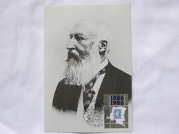 "BELG.1986 2199 FDC Mcard : "" Leopold II "" ( Belgisch Koningshuis /  Famille Royale Belge ) - FDC"