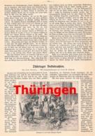 447 Volkstrachten Thüringen Eisenacht Tracht Artikel Mit 6 Bildern 1911 !! - Non Classificati