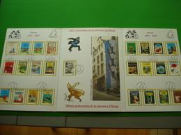 *KUIFJE*3 Delige Maxi-kaart ( 3 X A4 Formaat ) Met Afstempeling Zegelreeks * 3636/60* - Panes
