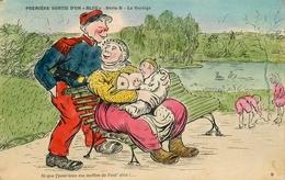 WW1 War Guerre 1914/18 - Illustrateur Genre Xavier Sager - NU CURIOSA Femme Seins Nus Allaitant Bébé Nus - War 1914-18