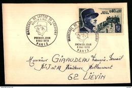 1639 - Maréchal DE LATTRE DE TASSIGNY - Premier Jour - 1970 -Berlin 8 Mai 1945 - Rhin Et Danube - 1961-....