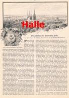 455 Halle Universität Jubelfeier Artikel Mit 14 Bildern 1894 !! - Other