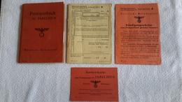Postsparbuch 1944 Sagan Ausweiskarte Und Rückzahlungsscheine Zum Postsparbuch Kündigungsscheine - 1939-45