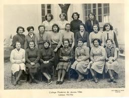 Photo De Classe - Collège Moderne De Jeunes Filles De Limoux 1953-54 - Personnes Identifiées
