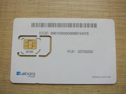 Lebara Mobile SIM Card, Fixed Chip - Australie