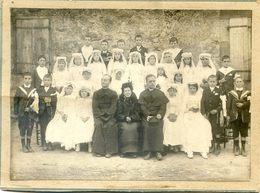 Photo De Groupe - Communion Solennelle  - Garcons Et Filles - A Localiser - Personnes Anonymes