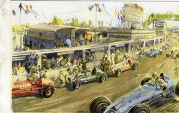 Grand Prix  -  Reproduction Art Card  -  Illustrateur: Geo Ham  -  CPM - Grand Prix / F1