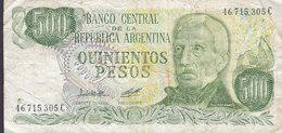 Argentina 500 Mil Pesos General San Martin 46.715.305 C (2 Scans) - Argentinien