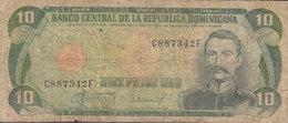 Dominicana 10 Diez Pesos Oro - Mining Miner C887342 F (2 Scans) - Dominicana