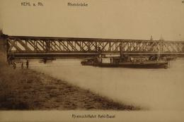 Kehl Am Rh. //Rheinbrucke // Rheinschiffahrt Kehl - Basel 19?? - Kehl