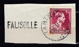 Fragmentje Met Langstempel Falisolle - Marcophilie