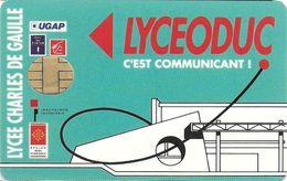 CARTE A PUCE CHIP CARD USAGES MULTIPLES FIDÉLITÉ LYCÉE CHARLES DE GAULLE MURET 31 HAUTE-GARONNE LYCEODUC - Treuekarten